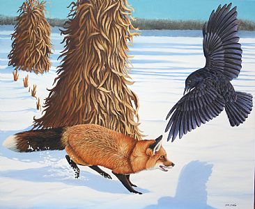 Shadow Jumper - Fox and Crow by Len Rusin