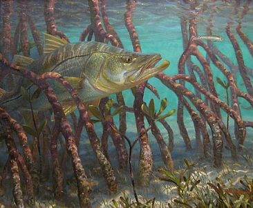 snook painting art by mark susinno