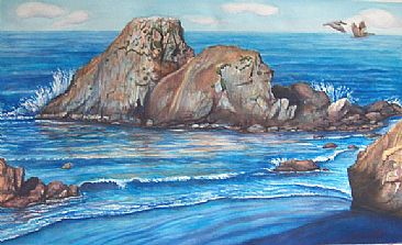 Camel Rock - Camel Rock, Northern California by Linda Parkinson