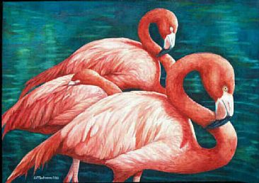 Flamingo Dreams - Brazilian Flamingoes by Linda Parkinson