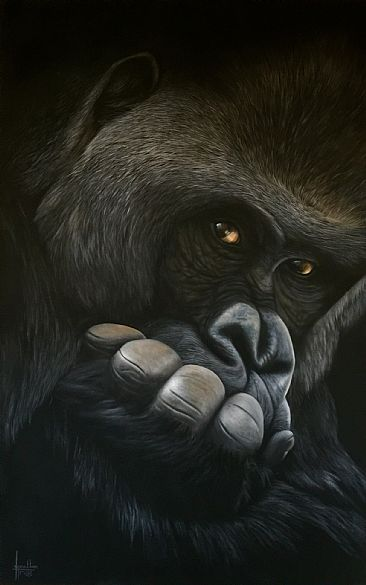 The Thinker - Gorilla by Jonathan Truss