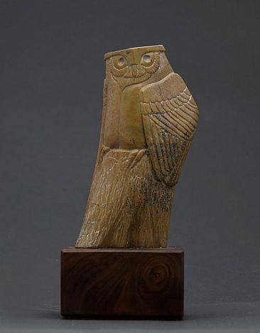 Soapstone Owl #2 - Owl by Clarence Cameron