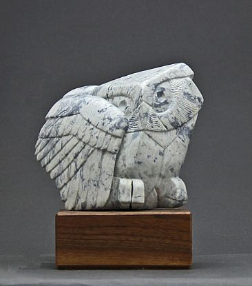 Soapstone Owl #30 - Owl by Clarence Cameron