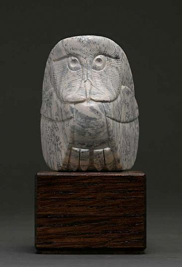 Owl sculpture art by clarence cameron