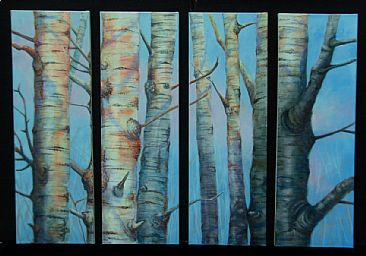 Tree Towers - Landscape Trees by Betsy Popp