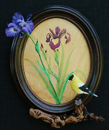 Goldfinch and Iris - Goldfinch and Iris by Betsy Popp
