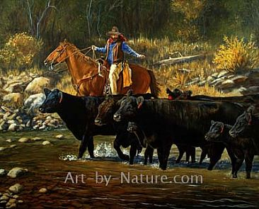 Cattle Equine Cowboy Painting Art By Deb Gengler Copple