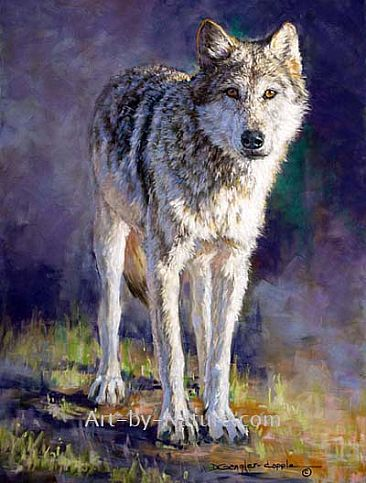 First Encounter - Grey Wolf by Deb Gengler-Copple