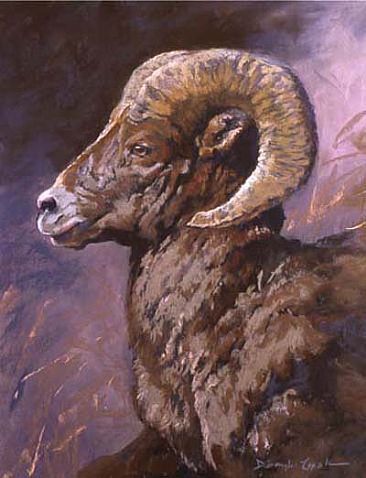 On the Move - Big horn sheep by Deb Gengler-Copple
