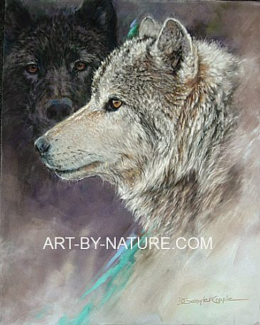 The Guardian - wolves by Deb Gengler-Copple