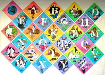 Here on Earth - alphabet series of ninety animals by Marcia Perry