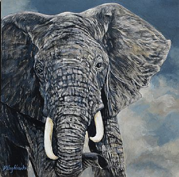 Out of Serengeti - African Elephant by Debbie Hughbanks