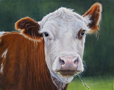 Annabelle with Attitude - SOLD - Holstein cow by Sally Berner