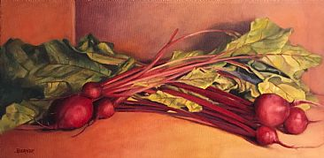 Still Life With Beets in the Sun - Fresh Beets  by Sally Berner