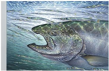 Chinook and Needlefish -  by Curtis Atwater