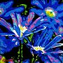 Uplifting the Spirit - Blue Gerbera Daisies by Karin Snoots&nbsp(2)